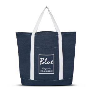 Denim Shopping Tote Bag