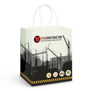 Medium Paper Carry Bag b Full Colour