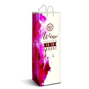 Laminated Paper Wine Bag - Full Colour