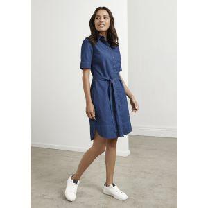 Delta 100% Cotton Stonewashed Denim Dress