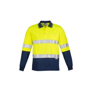 Hi Vis Spliced Long Sleeve Taped Polo
