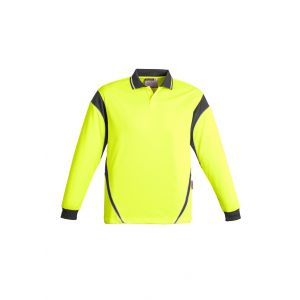 Mens Hi Vis Aztec Day Only Long Sleeve Polo