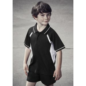 Kids Renegade Breathable Reflective Trims Sports Polo