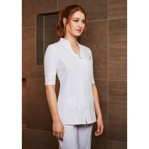 Ladies Bliss Zip-Front Luxury Beauty Tunics