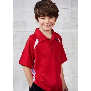 Kids Splice Contrast Breathable Polo