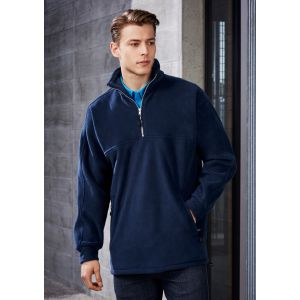 Mens Heavy Weight 1/2 Zip Winter Fleece Pull Over