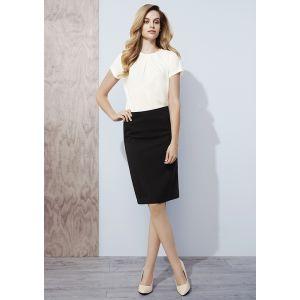 Womens Bandless Lined Skirt