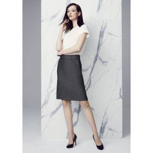 Womens Panelled Skirt with Rear Split