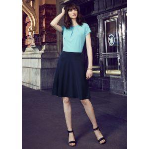 Womens Bandless Flared Skirt