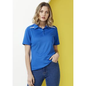 Ladies Sonar Polyester-Cotton Contrast Panels Polo
