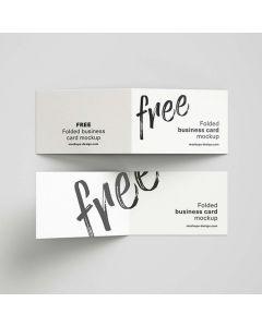 Single Color Folded Business Card